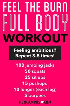Feel the Burn (All Over!) With This Full-Body Workout | Her Campus