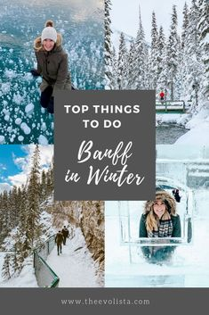 Top things to do in banff in winter - the evolista. most people go to banff national park in summer to see that gorgeous blue water and enjoy all the summer Winter Travel, Holiday Travel, Stuff To Do, Things To Do, Banff Canada, Visit Canada, Seen, Banff National Park, Canada Travel