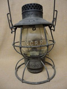 Vintage Antique Lantern Dietz No 2 D Lite Lantern Old Railroad Lantern Rustic Decor Oil