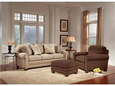 Smith Brothers Living Room Three Cushion Sofa 393-10 at Furniture Galleries  Comfort Wrinkles are Designed to Appear in This Style to Enhance the Exceptionally Soft Feel of the Seat and Back Cushions.  The Smith Brothers Living Room Three Cushion Sofa is available in the Butler, PA - Pennsylvania area from Furniture Galleries.