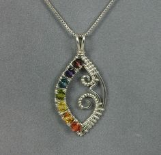 Handmade Wire Wrapped Chakra Pendant in Sterling by MystikCritterZ, $30.00