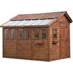 Storage Building. Sunshed 8 Ft. X 12 Ft. Western Red Cedar Garden Shed