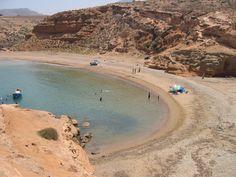 Plage rouge de Cap de l'eau, Maroc