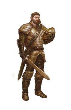 Male Human Fighter- Sword Armor