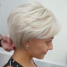 Long Ash Blonde Pixie