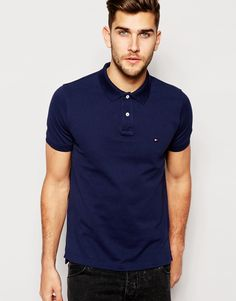aaafd8768d8ff Tommy Hilfiger Polo Shirt with Contrast Under Collar Slim Fit Tommy Hilfiger  Polo Shirts, Asos