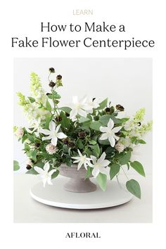 Whether you're creating a centerpiece for your home decor or prepping your DIY wedding flowers, follow along to learn how to create a simple artificial flower arrangement with just a few steps! Shop DIY floral supplies and fake flowers at Afloral.com. Fake Flower Centerpieces, Artificial Flower Arrangements, Vase Arrangements, Artificial Flowers, Wedding Centerpieces, Fake Flowers, Silk Flowers, Diy Wedding Flowers, Floral Supplies