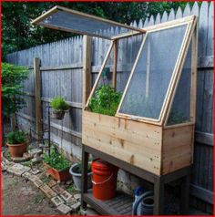 Raised garden bed - great for older or handicapped gardeners or for those tiny, special plants that otherwise are overlooked!