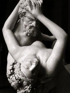 Bruxelles & Lille -   'Satyre et Bacchante' by Jean-Jacques Pradier, marble, Palais des Beaux-Arts, Lille.
