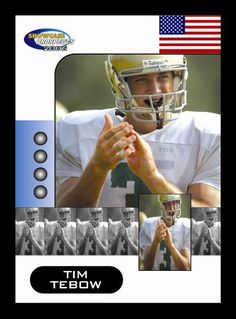 Tim Tebow 2006 High School Football card