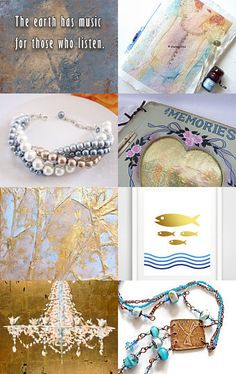 Golden blue, integritytt SOTW by Marie ArtCollection on Etsy--Pinned with TreasuryPin.com