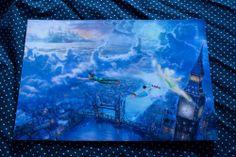 Thomas Kinkade Disney Tinker Bell and Peter Pan Fly to Neverland 8x12 Print | eBay $35