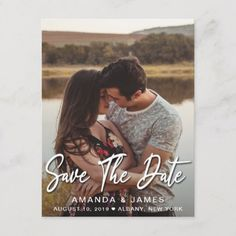 Elegant Vertical Typography Wedding Save The Date Announcement Postcard - merry christmas postcards postal family xmas card holidays diy personalize Save The Date Photos, Save The Date Postcards, Save The Date Cards, Holiday Photos, Holiday Cards, Wedding Color Schemes, Wedding Colors, Create Your Own Card, Wedding Announcements