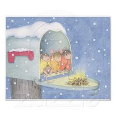 Image result for animated mouse house winter images