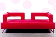Unique Red Leather Sofa Design