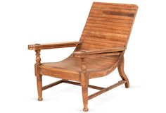 Interesting lines on this chair  One Kings Lane - The Wooden House - King Edward's Plantation Chair