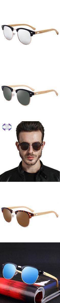 VCKA Wood Sunglasses Spring Hinge Handmade Bamboo Sunglasses Men Wooden Sun glasses Women Polarized Oculos de sol masculino