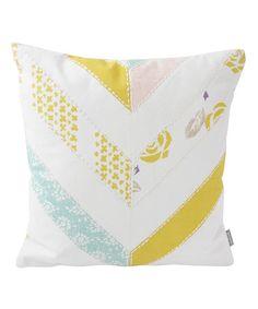 Look what I found on #zulily! Chevron Patchwork Throw Pillow #zulilyfinds
