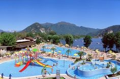 Camping at lake maggiore, with animation and pool, mobile homes, bungalows and apartments in Verbania. Bell Tent Camping, Campsite, Outdoor Camping, Camping Outdoors, Camping Am See, Family Camping, Camping Site, Lago Maggiore Camping, Europa Camping