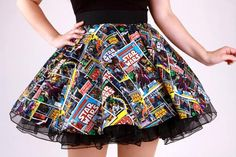 Wars Comic Circle Skirt -Star Wars Comic Circle Skirt - Pinup Comic Skirt / Vintage Inspired African Wax Print High Low Maxi A Line Cut Skirt by WithFlare More Get these shorts on or see more Suspenders Star Wars Comic Circle Skirt Fashion 90s, Tokyo Street Fashion, Vintage Fashion, Fashion Outfits, Fashion Clothes, Sewing Clothes, Diy Clothes, Clothes For Women, Diy Dress