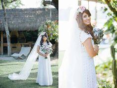 Noiva Gabi Paes/ Vestido: usado pela mãe da noiva reformado pela Magali Vieira/ Foto: The Kreulichs