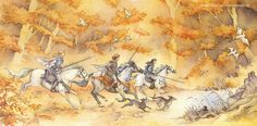 The Hunt by Jenny Dolfen. Finrod joins Maglor and Maedthros on a hunt in Beleriand