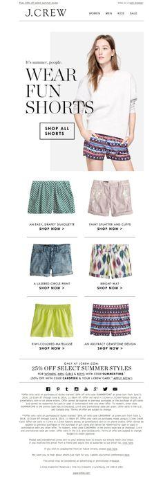 #newsletter J.Crew 06.2014 Better than pants?