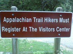 Begin the 2200 mile journey here at Amicolola State Park ......