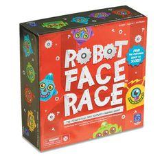 JUEGO ROBOT FACE RACE - Alupé – Un alocado inventor ha creado docenas de cuerpos de robots, ¡y ahora necesita tu ayuda para encontrar la cabeza perfecta! Agita el identificador de robots para seleccionar las características del robot y busca rápidamente por el tablero ¡hasta encontrar la cabeza perfecta! El primer jugador que consiga encontrar 5 robots diferentes será el ganador. ¡Una diversión frenética! Los jugadores desarrollan su percepción visual, discriminación de colores y...