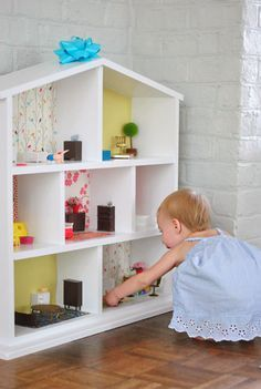 Building Doll House | Young House Love - this is the one we should have built, instead we bought a flisy pre-fab one.