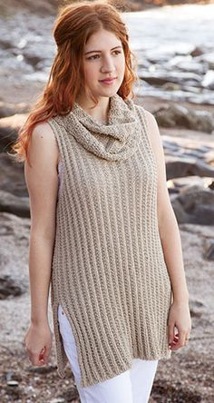 Knitting Pattern for Montecito Tuni - #ad Sleeveless pullover top or vest with cowl neck. Layer or wear this versatile top alone. tba