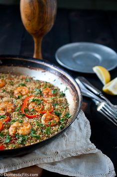 Paprika Shrimp and Sausage Quinoa Paella. The winning dish for The Today Show recipe contest: Healthy One Pot Meals. only 380 calories, 20 minutes and one pot!