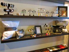 jewelry display shelving.
