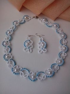 Dainty Tatted with Beads Set