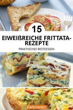 15 protein-rich frittata recipes - great for leftovers and so sustainable to cook Healthy Burger Recipes, Low Carb Recipes, Vegetarian Recipes, Easy Frittata Recipe, Frittata Recipes, Easy Homemade Burgers, Vegetable Frittata, Eat Smart, Perfect Breakfast