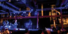 Inside the Musikfest Cafe presented by Yuengling. ~ Looking out the windows at night at The Stacks in the Cafe!