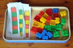 lego pattern building- would be great for older kids to take photos of patterns for younger