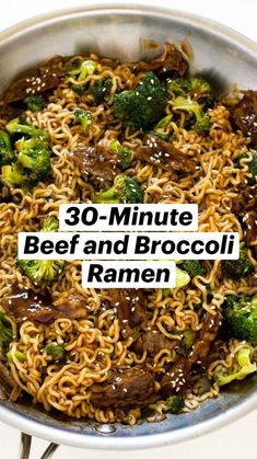 Easy Chinese Recipes, Asian Recipes, Beef Recipes, Cooking Recipes, Ramen Recipes, Healthy Recipes, Pasta, Broccoli Beef, Asian Cooking