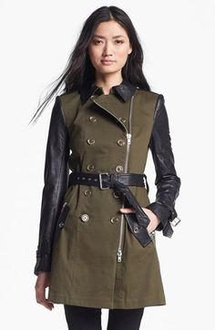 Rachel Zoe Belted Double Breasted Trench Coat available at #Nordstrom.  Military style anything will never go out of style.  Pricey, but will become a signature piece that will be worn season after season