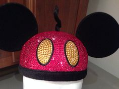 Mickey Mouse Hat w/Swarovski Crystals by KreacletsByKim on Etsy