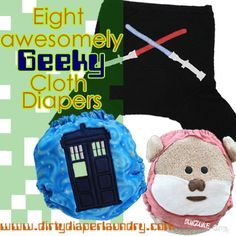 8 awesomely geeky cloth diapers!