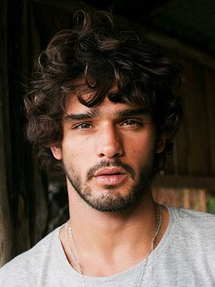 Marlon Teixeira is a Natural Beauty for Made in Brazil Editorial Marlon Teixeira, Mans Hair Cut, Hair And Beard Styles, Curly Hair Styles, Beautiful Men Faces, Hair Reference, Curly Hair Men, Brazilian Models, Interesting Faces