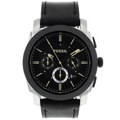 9c47ea9122e Fossil Men s Machine Chronograph Watch In Black - Beyond the Rack Fossil  Watches