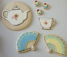 House and Home Decorative Sugar Cookies Dowman Dowman Guild Busekist what do you think of these Mother's Day Cookies, Crazy Cookies, Cut Out Cookies, Sugar Cookies, Toddler Tea Party, All About The Tea, Teapot Cookies, Cookie Crush, Sugar Rush