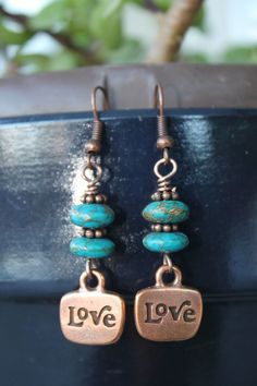 wire wrapped jewelry handmade copper earrings by shahrinalam