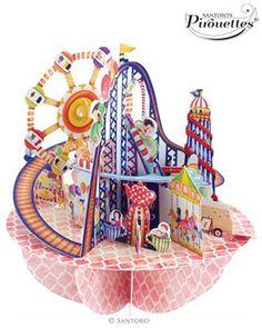 Santoro  Fairground 3D Pirouette | 3D Card | Santoro London