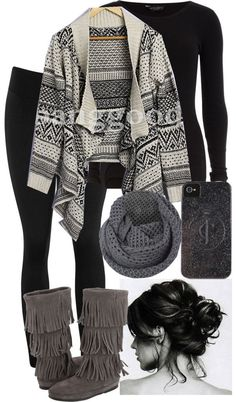 20 Polyvore Outfit Ideas for Winter--Love all of these, except I would opt for…