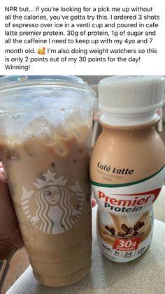 Healthy Starbucks Drinks, Starbucks Recipes, Yummy Drinks, Smoothie Drinks, Healthy Smoothies, Healthy Drinks, Coffee Drink Recipes, Coffee Drinks, Protein Shake Recipes