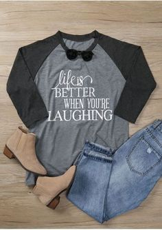 9f18e789d4 Plus Size Life Is Better When You're Laughing Baseball T-Shirt Life Is