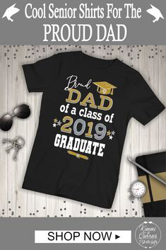 8ee7b05fda Proud Dads everywhere will love this cool & bold Proud Dad Of 2019 Graduate  with cap